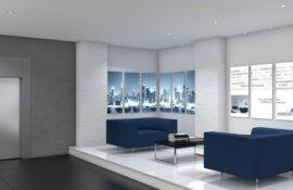 Lobby mit LED Werbetechnik